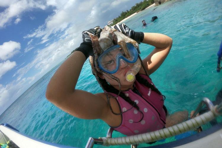 2年連続で沖縄の海を満喫!家族でとったどー